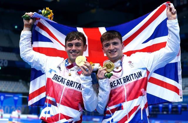 Daley and Lee showed off their medals