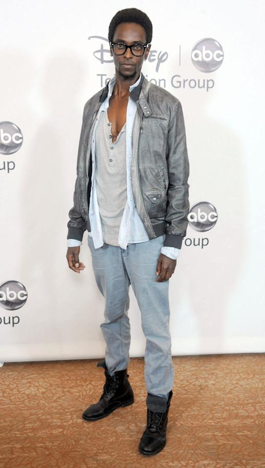"Edi Gathegi (""The Family Tools"") arrives at the Disney/ABC Television Group Summer 2012 Press Tour Party at The  Beverly Hilton Hotel on July 27, 2012 in Beverly Hills, California."
