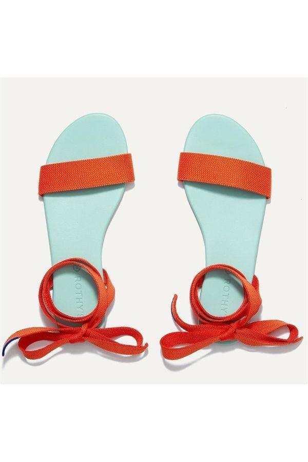 """<p><strong>Rothy's</strong></p><p>rothys.com</p><p><strong>$125.00</strong></p><p><a href=""""https://go.redirectingat.com?id=74968X1596630&url=https%3A%2F%2Frothys.com%2Fproducts%2Fthe-wrap-sandal-picnic&sref=https%3A%2F%2Fwww.oprahdaily.com%2Fstyle%2Fg25893553%2Fbest-sandals-for-women%2F"""" rel=""""nofollow noopener"""" target=""""_blank"""" data-ylk=""""slk:SHOP NOW"""" class=""""link rapid-noclick-resp"""">SHOP NOW</a></p><p>Just like their signature knit ballet flats, these Rothy's sandals are made from recycled water bottles and boast a """"zero break-in period."""" Plus, they're machine washable so they'll always look new. </p>"""
