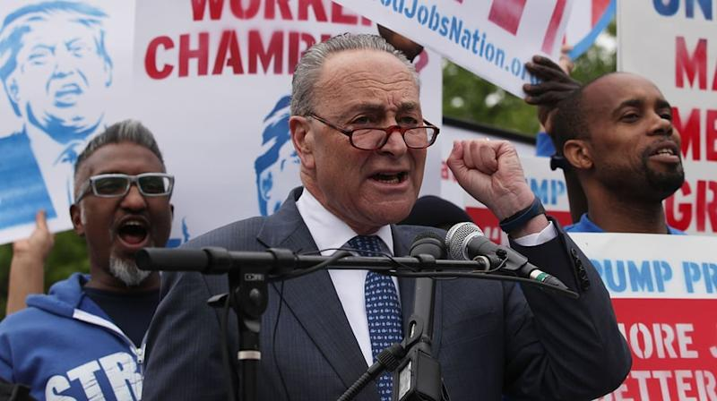Chuck Schumer Marks Trump's First 100 Days With Scathing Playlist