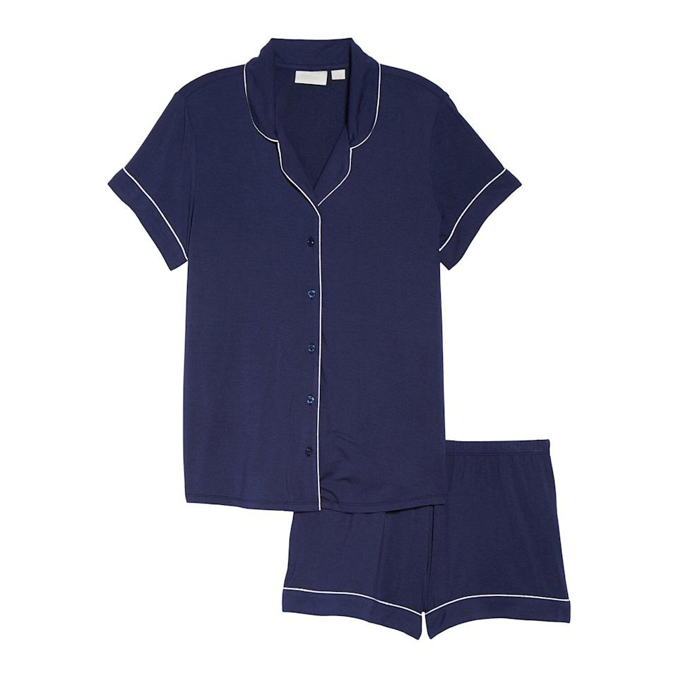 """<p>Now that temperatures are rising, it's time to swap out warm pajamas for a pair that's lighter and more breathable, like this cute PJ set. The matching shorts and button up top are so stylish and soft, you'll want to wear them all spring and summer.</p> <p><strong>To buy</strong>: $37 (was $49); <a href=""""https://click.linksynergy.com/deeplink?id=93xLBvPhAeE&mid=1237&murl=http%3A%2F%2Fshop.nordstrom.com%2Fs%2Fnordstrom-lingerie-moonlight-short-pajamas%2F3837466%2Ffull&u1=RS%2CNordstromQuietlyMarkedDownPricesonSoManyComfyEssentials%2Cjmastrop%2CCLO%2CIMA%2C697481%2C202003%2CI"""" rel=""""nofollow noopener"""" target=""""_blank"""" data-ylk=""""slk:nordstrom.com"""" class=""""link rapid-noclick-resp"""">nordstrom.com</a>.</p>"""