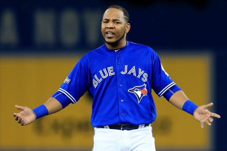 Edwin Encarnacion didn't perform well during the ALCS. (Getty Images/Vaughn Ridley)