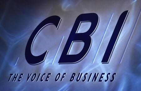 A Confederation of British Industry (CBI) logo is seen during their annual conference in London