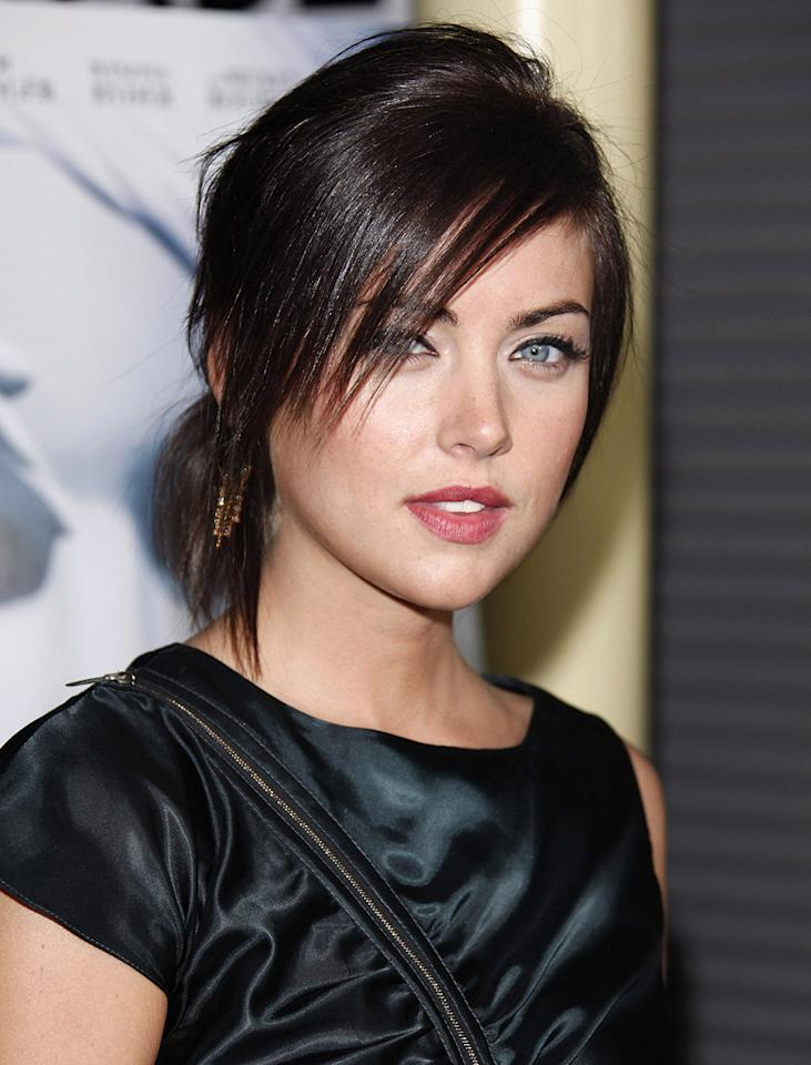 """<a href=""""http://movies.yahoo.com/movie/contributor/1809768688"""">Jessica Stroup</a> at the Los Angeles premiere of <a href=""""http://movies.yahoo.com/movie/1809946368/info"""">The Informers</a> - 04/16/2009"""