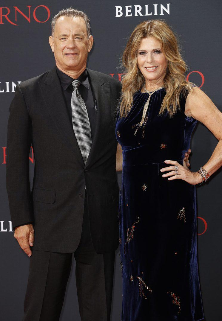 Tom Hanks and Rita Wilson on Oct.10 in Berlin.
