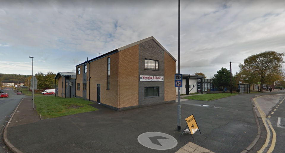 A total of 16 cases have been linked to the Silverdale Working Men's Club in Staffordshire. (Google Maps)