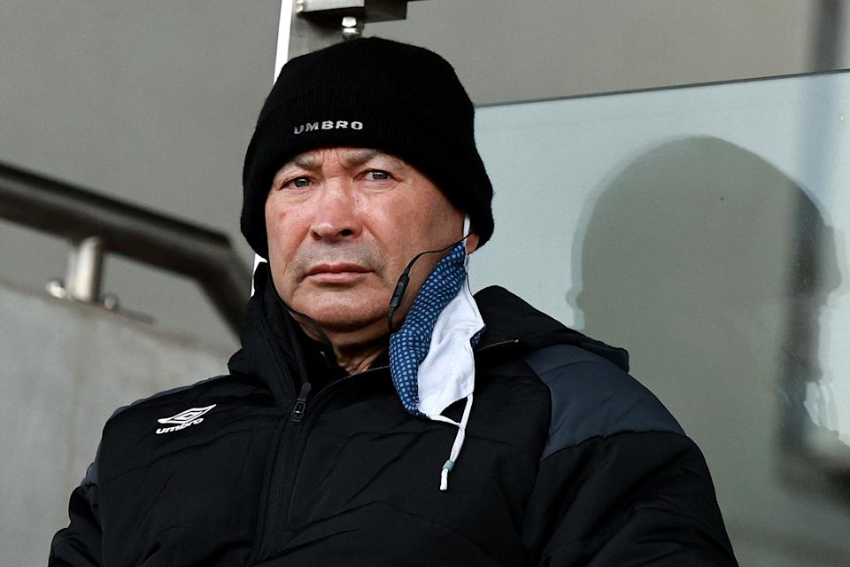 Eddie Jones watches Leicester play Newcastle last month (Getty Images)
