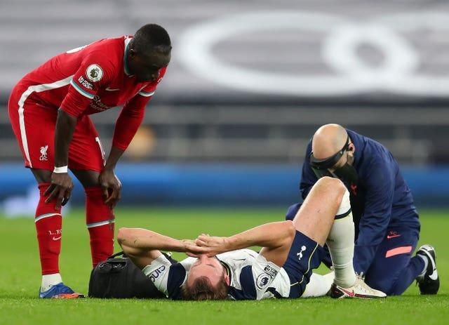 Harry Kane suffered injury against Liverpool