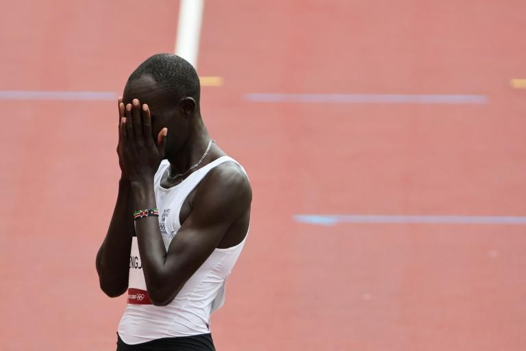 Refugee Olympic Team's James Chiengjiek second Games campaign ended in tears after he finished a tailed off last following a fall in his 800 metres heat in Tokyo