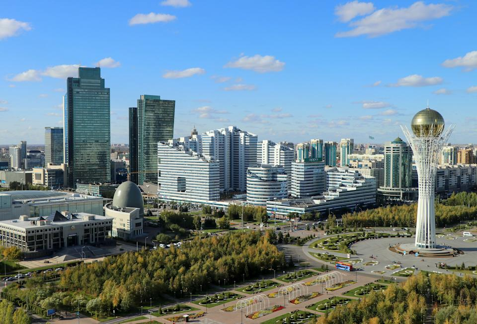 What Kazakhstan actually looks like: the modern Nur-Sultan (Photo: Frans Sellies via Getty Images)