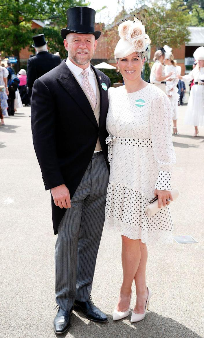 <p>Mike Tindall and Zara Tindall attend the Royal Ascot on June 15, 2021.</p>