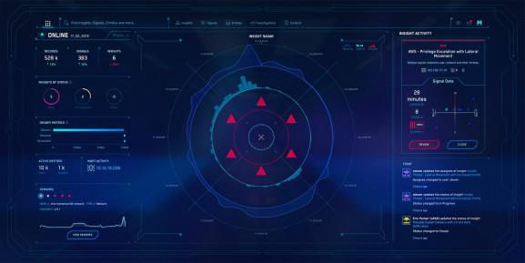 Cybertron's cybersecurity user interface takes inspiration from video game mini maps.