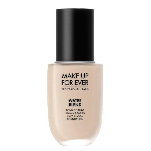 "<p>""For summer I like water-based foundations and powder foundations, depending on your skin type,"" says Stiles. ""Anything with oil feels heavy in those hot and humid months. Right now I'm loving the Make Up For Ever Water Blend formula."" This lightweight, water-gel foundation delivers hydration and buildable coverage. If pressed powder is more your thing, Stiles is a fan of Aveda Inner Light Mineral Pressed Powder (<a href=""http://www.aveda.com/product/5335/17072/makeup/face/inner-light-mineral-pressed-powder#/shade/01%2FCream"" rel=""nofollow noopener"" target=""_blank"" data-ylk=""slk:Aveda"" class=""link rapid-noclick-resp"">Aveda</a>, $25). ""It makes a lovely powder foundation that's still light feeling, and doesn't make you feel like your skin is suffocating,"" she says. You have to order the compact case separately (<a href=""http://www.aveda.com/product/5337/16959/makeup/toolscompacts/envirometal-compact-essentials#/shade/one_size"" rel=""nofollow noopener"" target=""_blank"" data-ylk=""slk:Aveda"" class=""link rapid-noclick-resp"">Aveda</a>, $22); if you do, Stiles recommends ditching the sponge that comes with it and applying the powder with the side of a foundation brush for a lighter application.<br><a href=""http://www.sephora.com/water-blend-face-body-foundation-P410512"" rel=""nofollow noopener"" target=""_blank"" data-ylk=""slk:Sephora"" class=""link rapid-noclick-resp"">Sephora</a>, $43<br>(Photo: Make Up Forever) </p>"