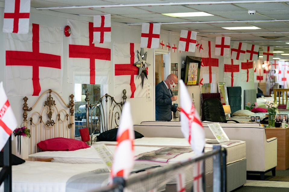 Noel Barton has run with the theme at his store VIP Beds in Birmingham (PA Wire)