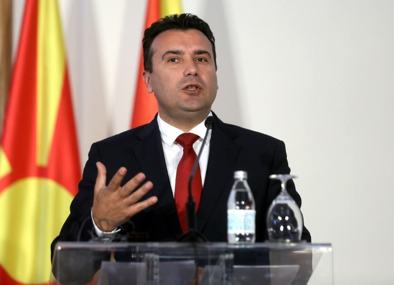 North Macedonia's Prime Minister Zoran Zaev said the EU had made a 'historic mistake' in blocking the start of accession talks (AFP Photo/OLIVER BUNIC)