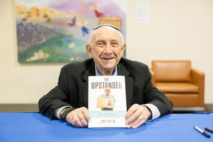 """Holocaust survivor Max Glauben's memoir, """"The Upstander,"""" published this spring. Max is 93 years old."""