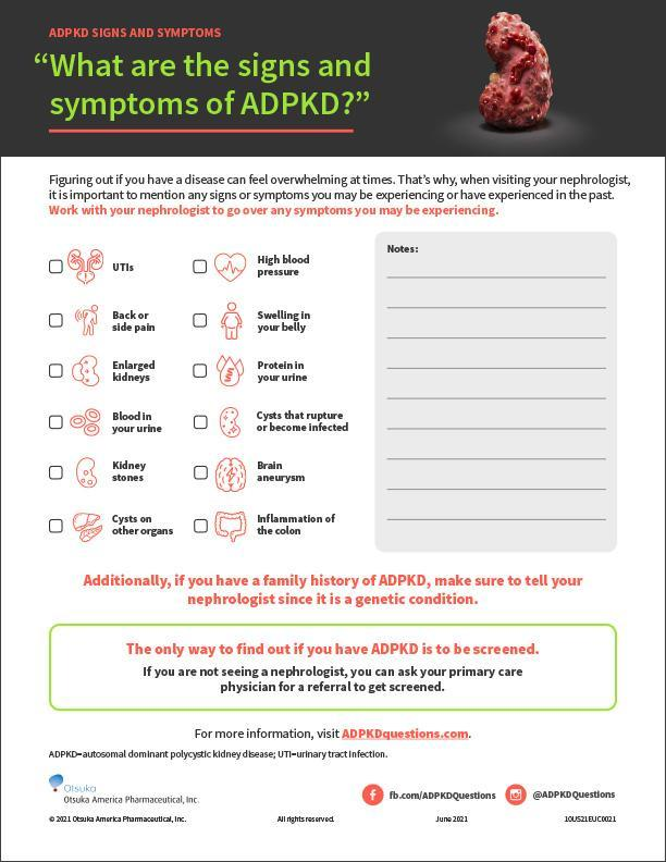 What are the signs and symptoms of ADPKD?