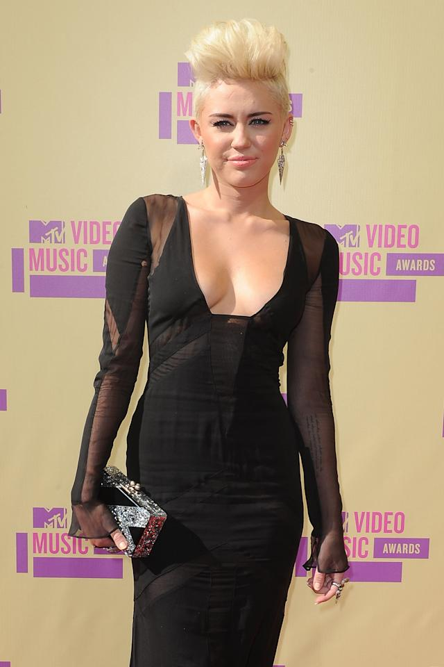 <p>Cyrus took the mohawk hairstyle to new heights - quite literally - with her bleached blond look in 2012.</p>