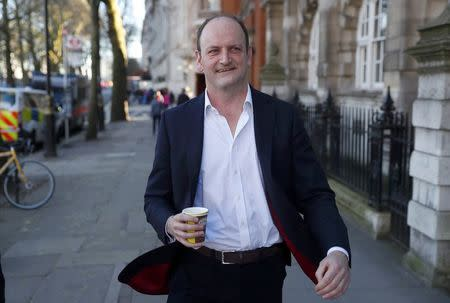 United Kingdom Independence Party MP Douglas Carswell leaves a television studio in central London