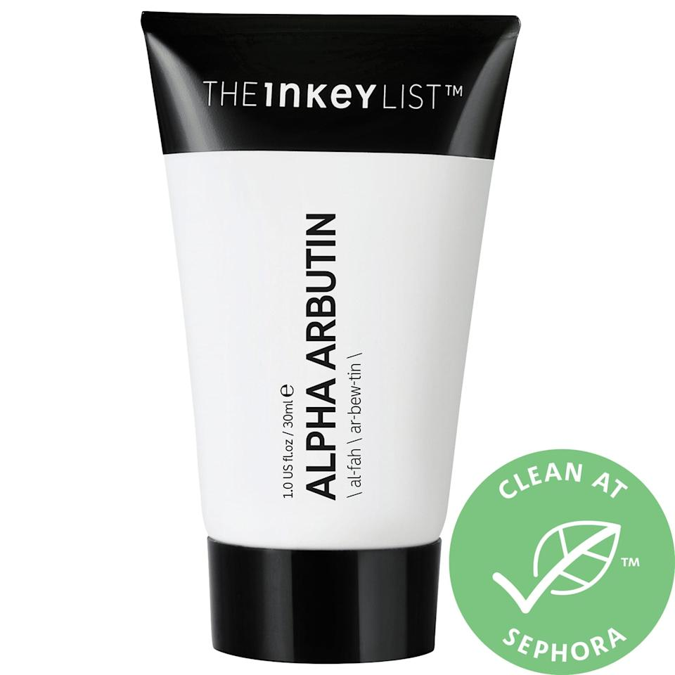"<p><a href=""https://www.popsugar.com/buy/Inkey-List-Alpha-Arbutin-Brightening-Serum-582096?p_name=The%20Inkey%20List%20Alpha%20Arbutin%20Brightening%20Serum&retailer=sephora.com&pid=582096&price=12&evar1=bella%3Aus&evar9=47550611&evar98=https%3A%2F%2Fwww.popsugar.com%2Fbeauty%2Fphoto-gallery%2F47550611%2Fimage%2F47550624%2FInkey-List-Alpha-Arbutin-Brightening-Serum&list1=sephora%2Cthe%20inkey%20list&prop13=mobile&pdata=1"" class=""link rapid-noclick-resp"" rel=""nofollow noopener"" target=""_blank"" data-ylk=""slk:The Inkey List Alpha Arbutin Brightening Serum"">The Inkey List Alpha Arbutin Brightening Serum</a> ($12) takes on dark spots, scars, and hyperpigmentation while hydrating skin with squalane at the same time.</p>"