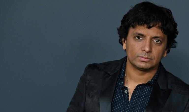 "Filmmaker M. Night Shyamalan is seen here at the premiere of his new Apple TV+ series ""Servant"" in Brooklyn"