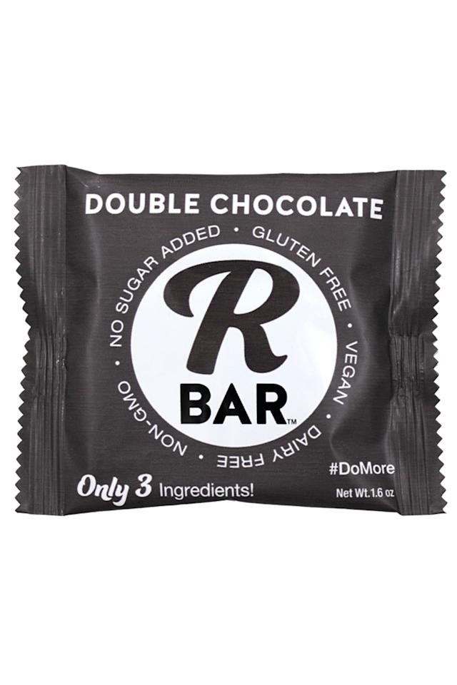 "<p><a rel=""nofollow"" href=""https://www.amazon.com/RBar-Energy-Double-Chocolate-Bars/dp/B01J4H0IC4?tag=syndication-20"">BUY NOW</a><br></p><p>The double chocolate R Bar is made from chopped pecans, dates and cocoa powder, making it a hearty and wholesome treat post-meal or as a better-for-you pastry swap at breakfast. </p><p><em>190 calories, 1.5g saturated fat, 17g sugar, 5g fiber, 3g protein, 0mg sodium </em><span></span></p>"