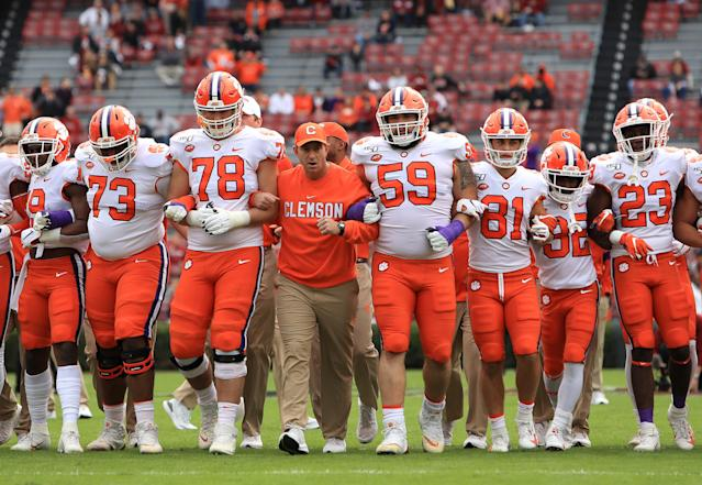 After beating South Carolina to secure a 12-0 season, Dabo Swinney went on a rant to help Clemson receive the national respect he doesn't think they're getting. (Streeter Lecka/Getty Images)