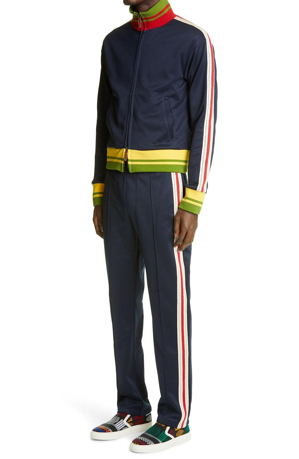 <p>This <span>Wales Bonner Stripe Trim Track Jacket</span> ($625) and <span>Pants</span> ($505) is a classic set.</p>