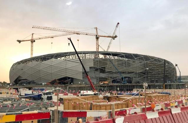 Qatar's newly built Education City stadium had been due to host Champions League winners Liverpool in the semi-final of the Club World Cup next week (AFP Photo/Karim ABOU MERHI)