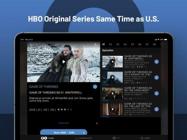 streaming apps - hbo go asia