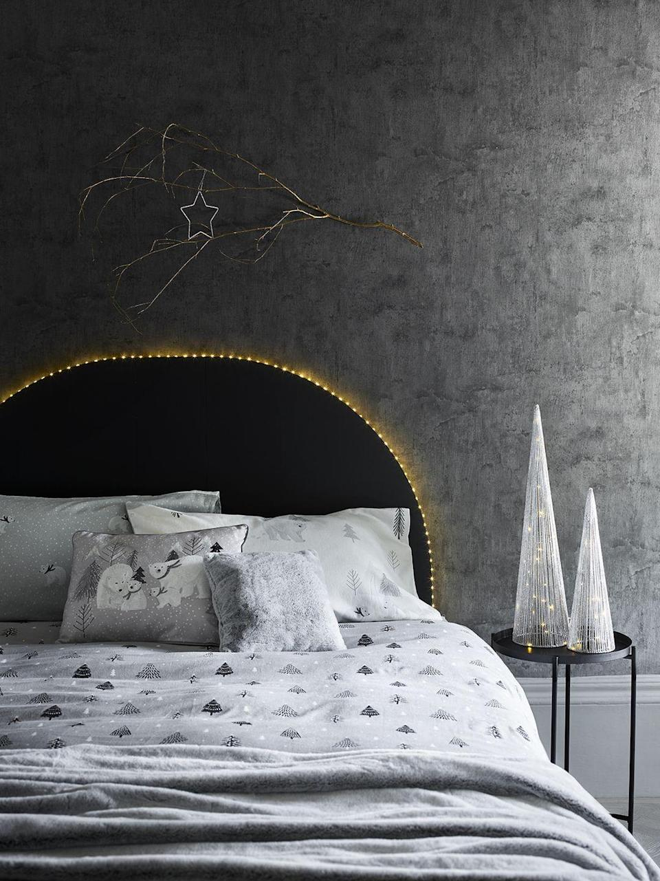 <p>Prioritise your sleep over the holidays by picking up soft new bedlinen, sumptuous throws and cosy cushions to curl up with. </p><p>'Blacks, greys and deep purples blend with metallic sheens and iridescent finishes to give a moody yet luminous finish to the 'Nocturnal' trend,' Julie says. </p>