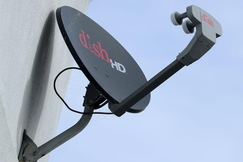 A Dish Network satellite dish is shown on a residential home in Encinitas, California