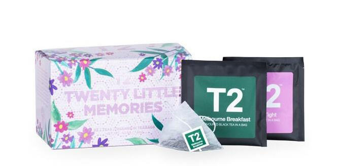 This 20 Little Memories pack features 20 of T2 tea's best-loved tea flavours, packaged as convenient teabags.