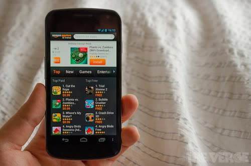 Amazon phone 'confirmed', modified Android OS expected. Phones, Amazon, Android, Android 4.0, Nokia, Nokia Maps, Google 0
