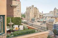 """<p>This Upper East Side classic is set in a former 1920's apartment building—which may be why <a href=""""https://www.cntraveler.com/hotels/united-states/new-york/the-lowell-new-york?mbid=synd_yahoo_rss"""" rel=""""nofollow noopener"""" target=""""_blank"""" data-ylk=""""slk:The Lowell"""" class=""""link rapid-noclick-resp"""">The Lowell</a> has so many regulars that treat the hotel like a second home. Part of what contributes to that homey vibe are the rooms, many of which have fully outfitted kitchens or kitchenettes, working wood-burning fireplaces and—in fourteen of the suites—private terraces. These private outdoor sanctuaries are available in various categories, from Deluxe Junior Suites to the Penthouse; the latter actually has four separate terraces. Most of these al fresco areas are furnished with chairs and tables, but the Garden Suite takes it to another level with a full outdoor dining set, a settee, coffee table, and a fountain. The views are mainly of other buildings, many of them historic, in this residential part of the Upper East Side.</p> <p><strong>Book now</strong>: <a href=""""https://cna.st/affiliate-link/428C3oXt36Tzp1MJjJamrmBZWsnKBst3BqbZYghnP8bomTybtCN2SikvtkdmknYLn4k7iSnEkxD8V6nQ9BwdnTowfy13tcCnPXfExJ3p6VNEr2sMqH5UzBhhhuDyY5Z3k1Na2xxNTA2NZ?cid=5ba54785625211259a9731b8"""" rel=""""nofollow noopener"""" target=""""_blank"""" data-ylk=""""slk:From $955 per night, expedia.com"""" class=""""link rapid-noclick-resp"""">From $955 per night, expedia.com</a></p>"""