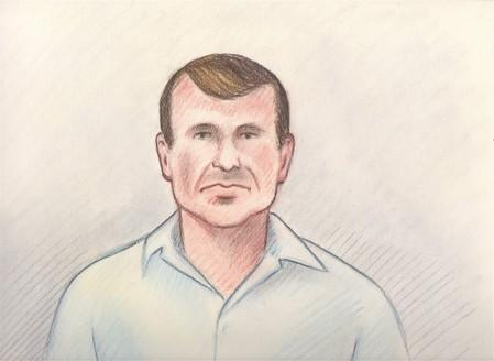 Cameron Ortis is shown in a court sketch from his court hearing in Ottawa