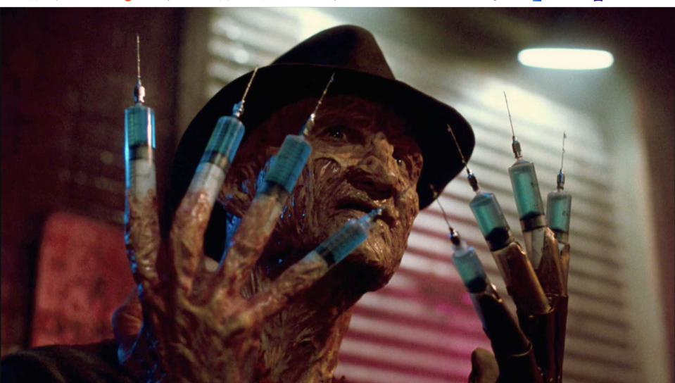 Robert Englund in Nightmare On Elm Street: Dream Warriors (credit: New Line Cinema)