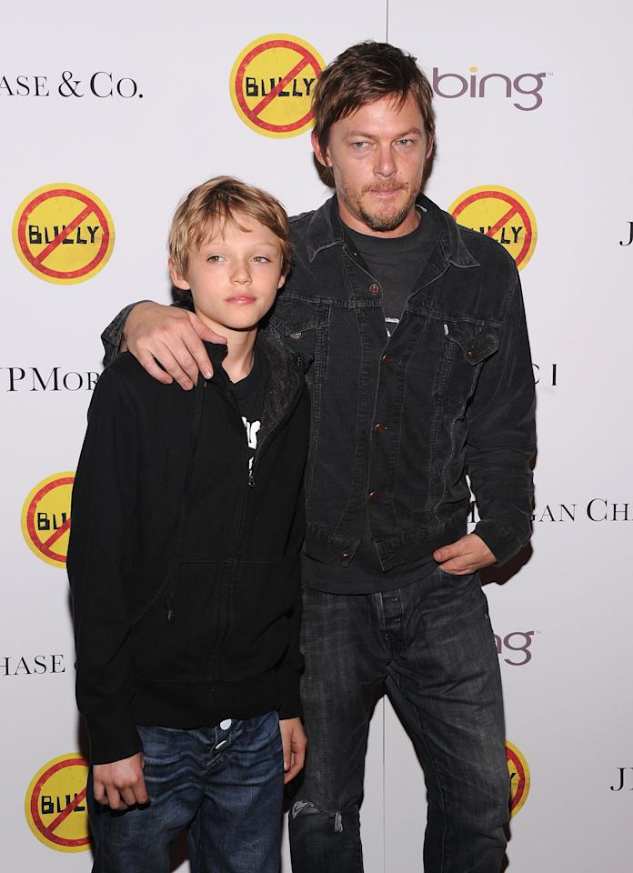 "NEW YORK, NY - MARCH 20:  Mingus Reedus and Norman Reedus attend the ""Bully"" screening at The Paley Center for Media on March 20, 2012 in New York City.  (Photo by Jamie McCarthy/Getty Images)"