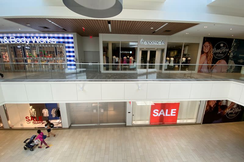 FILE PHOTO: California closes indoor shopping malls as it pulls back from opening due to a sharp rise in positive tests of the coronavirus disease (COVID-19), in Carlsbad