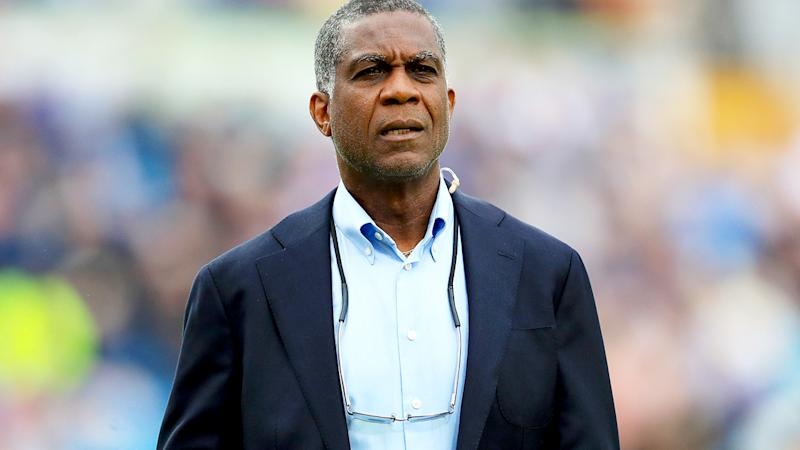 Michael Holding, pictured here during the 2019 Ashes series between Australia and England.