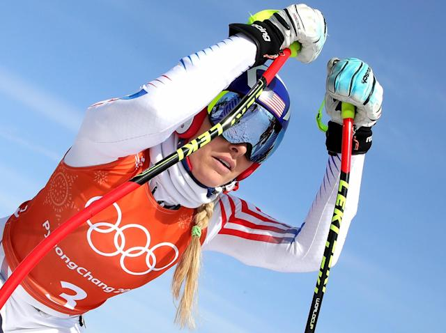 Lindsey Vonn made a mistake which cost her a medal in the super-G: Getty Images