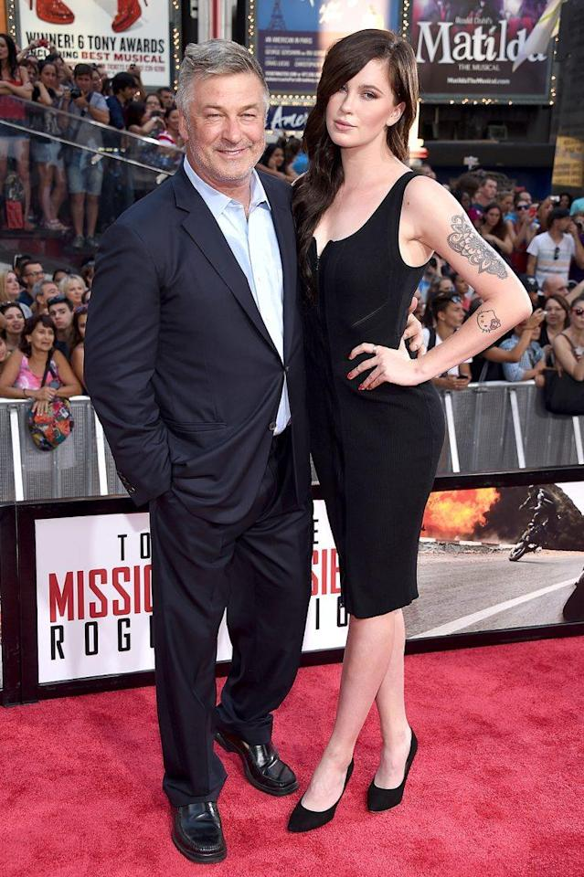 Alec Baldwin and Ireland Baldwin hit the red carpet for the New York premiere of <em>Mission: Impossible — Rogue Nation</em> in 2015. (Photo: Dimitrios Kambouris/Getty Images for Paramount Pictures)