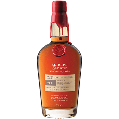 """<p><strong>Maker's Mark</strong></p><p>totalwine.com</p><p><strong>$58.99</strong></p><p><a href=""""https://go.redirectingat.com?id=74968X1596630&url=https%3A%2F%2Fwww.totalwine.com%2Fspirits%2Fbourbon%2Fsmall-batch-bourbon%2Fmakers-mark-wood-finishing-series-fae01%2Fp%2F236155750&sref=https%3A%2F%2Fwww.townandcountrymag.com%2Fleisure%2Fdrinks%2Fnews%2Fg1750%2Fholiday-wine-and-spirits-gift-guide%2F"""" rel=""""nofollow noopener"""" target=""""_blank"""" data-ylk=""""slk:Shop Now"""" class=""""link rapid-noclick-resp"""">Shop Now</a></p><p>The latest edition of Maker's Mark's wood-finishing series (a second, complimentary bottling is set to come out this fall) is aged with an additional American oak stave that is seared on one side and left raw on the other to enhance the notes of dried fruit and subtle earthiness that make this bottle one any bourbon lover will return to again and again. </p>"""