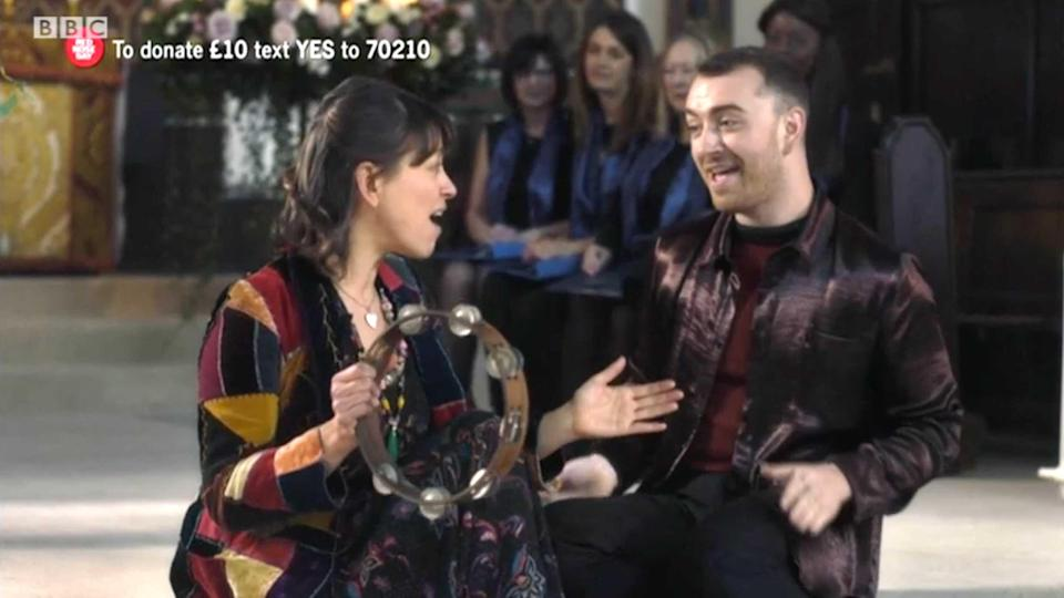 Nicola Walker and Sam Smith in One Red Nose and a Wedding