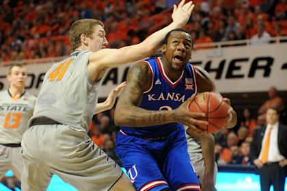 Cliff Alexander (2) attempts a shot against Oklahoma State. (USAT)