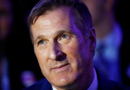 FILE PHOTO: Maxime Bernier watches during the Conservative Party of Canada leadership convention in Toronto