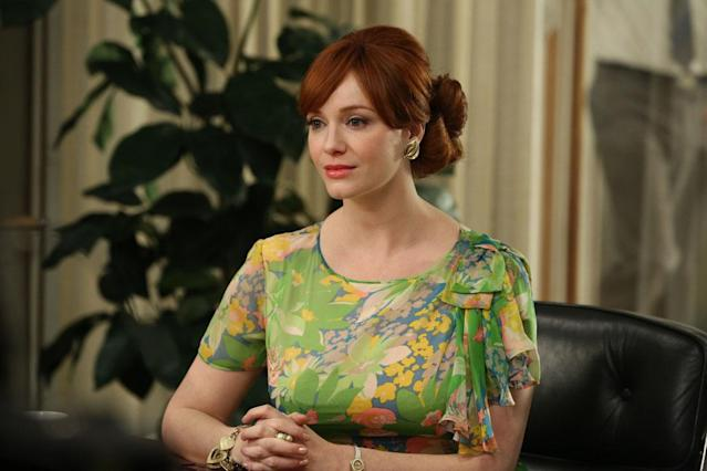 "Joan Harris (Christina Hendricks) in the ""Mad Men"" episode, ""A Tale of Two Cities."""