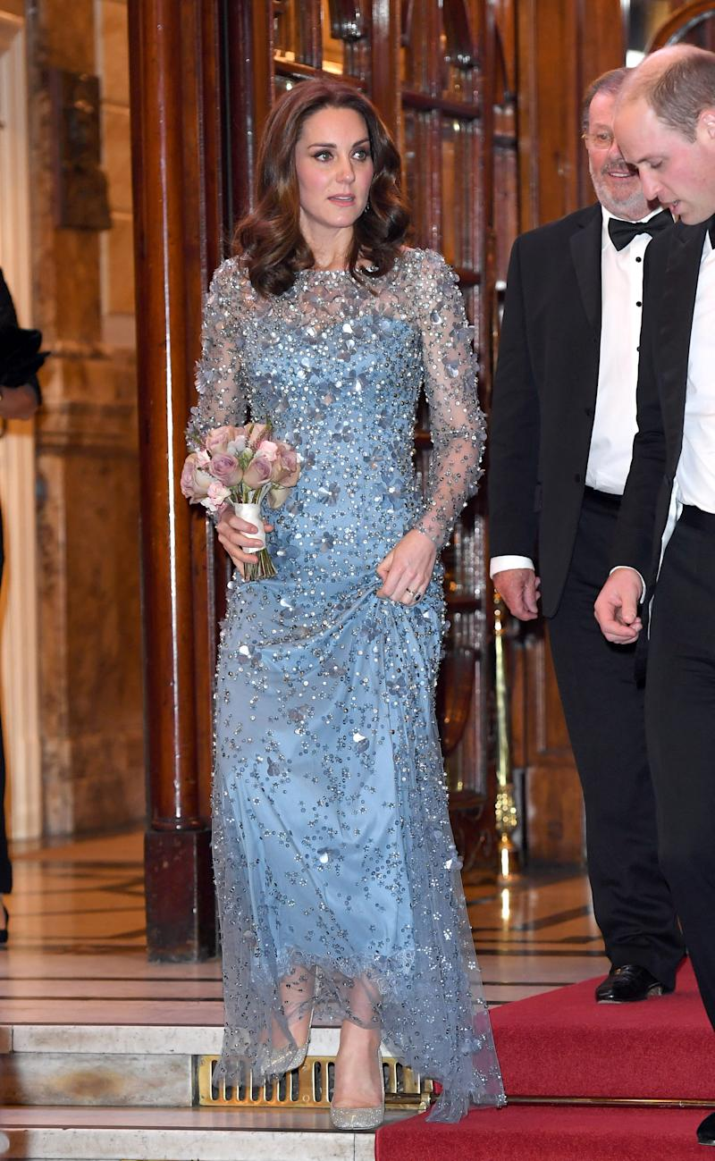 Kate Middleton no Royal Variety Performance em Londres, na Inglaterra, em 2017 (Foto: Karwai Tang/WireImage)