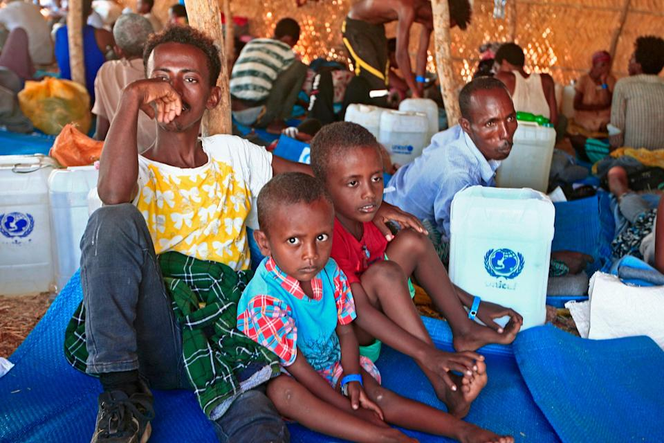 <p>Aid agencies warn of a humanitarian disaster unfolding</p> (AFP via Getty Images)
