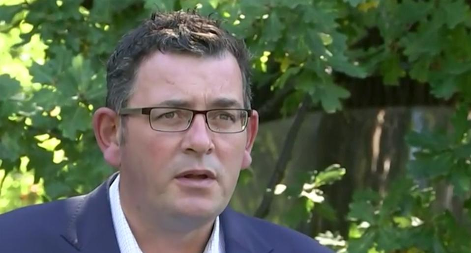 Daniel Andrews addressed the media on Wednesday morning. Source: ABC